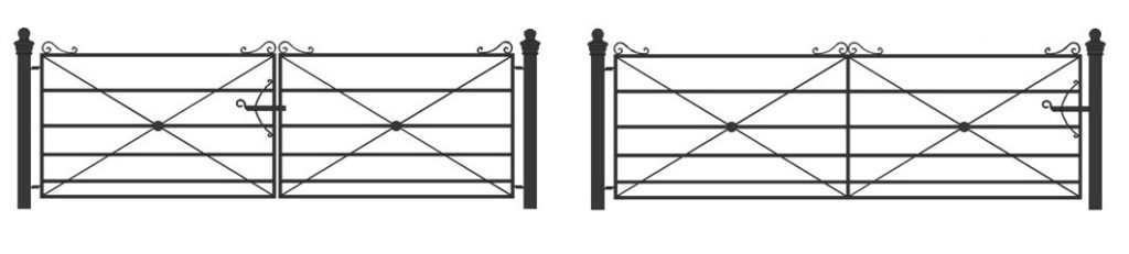 single and double gates, field gates, field entrance gates
